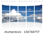 abstract vector background of... | Shutterstock .eps vector #136768757
