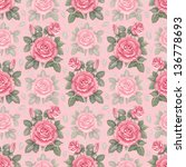 watercolor rose illustration.... | Shutterstock . vector #136778693