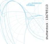 abstract technology  vector... | Shutterstock .eps vector #136785113