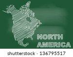 scribble sketch of north... | Shutterstock .eps vector #136795517