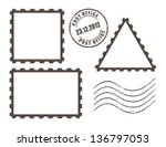 blank post stamps  vector...