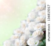 White Rose Flowers With...