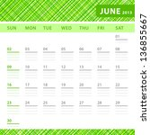 june 2013 planning calendar... | Shutterstock .eps vector #136855667