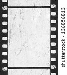 grunge monochrome filmstrip... | Shutterstock .eps vector #136856813