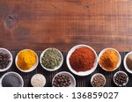 various spices selection. | Shutterstock . vector #136859027