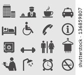 hotel icons set.vector | Shutterstock .eps vector #136859807