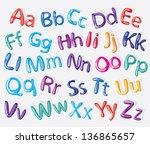 cartoon colorful alphabet ... | Shutterstock .eps vector #136865657