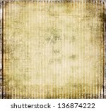Vintage striped paper background - stock photo