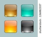 app buttons | Shutterstock .eps vector #136882337