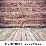 Brick Wall With Wooden Floor