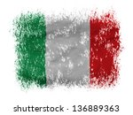 italy. italian flag  on white... | Shutterstock . vector #136889363