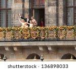 amsterdam   apr 30  newly... | Shutterstock . vector #136898033