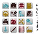 car set of icons | Shutterstock .eps vector #136901273