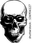 vector skull artwork | Shutterstock .eps vector #136906127