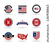 america,american,authentic,blue,button,concept,country,federal,flag,freedom,guarantee,icon,icon set,idea,independence