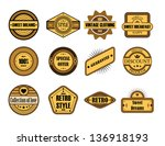 set of vintage brown labels  | Shutterstock . vector #136918193