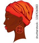 beautiful woman with earring  ...   Shutterstock .eps vector #136926083