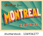 vintage touristic greeting card ... | Shutterstock .eps vector #136936277
