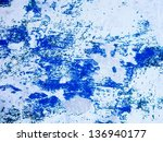 remnants of old paint on wall.... | Shutterstock . vector #136940177