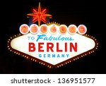 welcome to berlin | Shutterstock . vector #136951577
