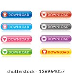 download buttons set | Shutterstock .eps vector #136964057