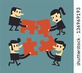 teamwork | Shutterstock .eps vector #136969193