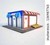 icon of the facade of a shop... | Shutterstock . vector #136987763