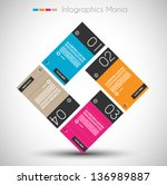 infographic design template... | Shutterstock .eps vector #136989887
