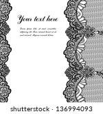 black lace on white background... | Shutterstock .eps vector #136994093