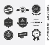 set of retro badges and labels | Shutterstock .eps vector #136995053