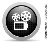 cinema black circle web glossy... | Shutterstock . vector #137021003