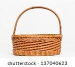 an empty basket on a white... | Shutterstock . vector #137040623