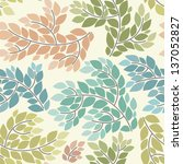 seamless pattern with branches | Shutterstock .eps vector #137052827