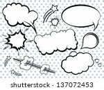 Collection of Comic Style Bubbles in Vector Format | Shutterstock vector #137072453