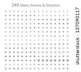 mono color metro arrows and... | Shutterstock .eps vector #137090117
