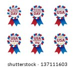 independence day badges | Shutterstock .eps vector #137111603