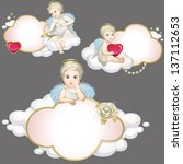 angels set | Shutterstock .eps vector #137112653