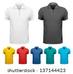 set of colorful male shirts....   Shutterstock .eps vector #137144423