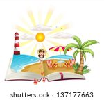 illustration of a book with an...