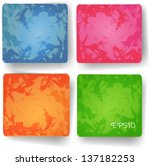 set of vector grunge backgrounds | Shutterstock .eps vector #137182253