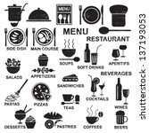 scratched restaurant menu... | Shutterstock .eps vector #137193053