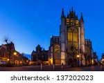 panorama of the front of the ... | Shutterstock . vector #137202023