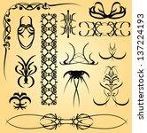 set of calligraphic symbols for ... | Shutterstock .eps vector #137224193