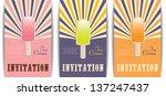 cocktail invitations  set of... | Shutterstock .eps vector #137247437
