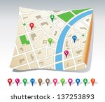 city map | Shutterstock .eps vector #137253893