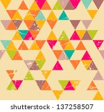triangles grunge seamless... | Shutterstock .eps vector #137258507
