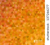 abstract vector orange... | Shutterstock .eps vector #137266277