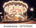 night view of the illuminated... | Shutterstock . vector #137270183