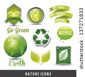 natural icon over white... | Shutterstock .eps vector #137271833