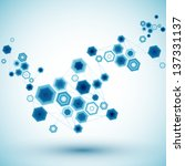 abstract hexagonal background. ... | Shutterstock .eps vector #137331137